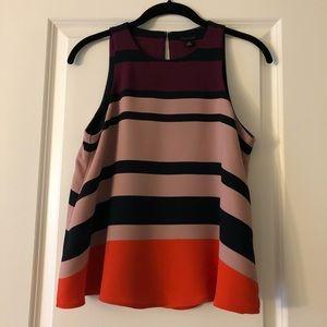 [Ann Taylor] Striped Shell